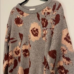 Knox Rose Sweaters - Knox Rose Pullover Floral Sweater